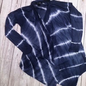 Forever 21 tie dye waterfall cardigan size large
